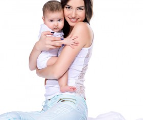 Young mother hugging her child Stock Photo 05