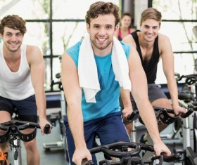 Young people working out in the gym Stock Photo 05