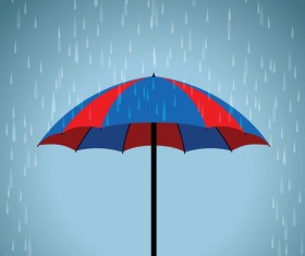 blue and red umbrella vector background
