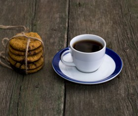 cookies and a cup of mellow coffee Stock Photo