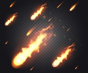 fireballs illustration vector