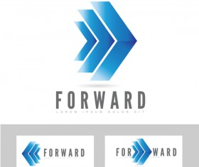 forward concept logo vector
