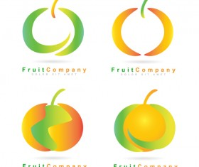 fruit logos vector design