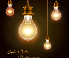 light bulb lamp vector background 02