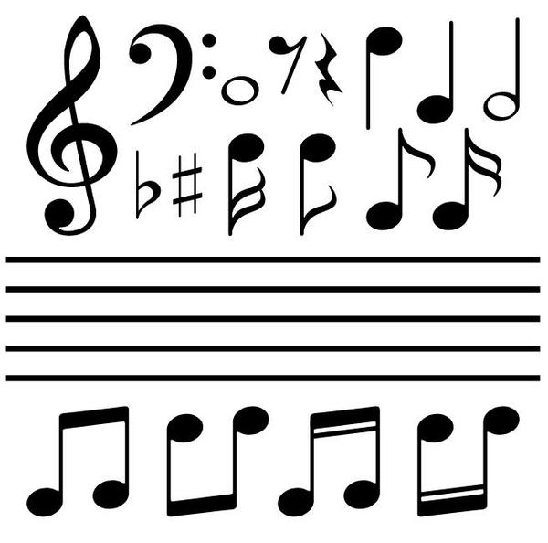 Musical Symbols And Stave Vector Free Download