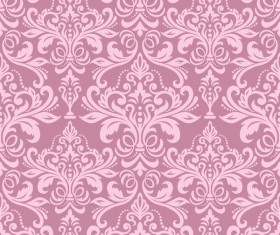 pink seamless wallpaper pattern vector material