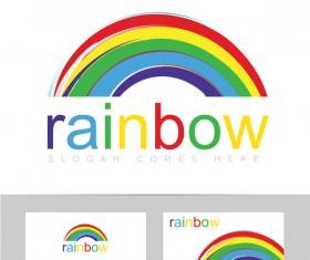 rainbow logo vector