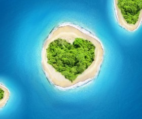 small island in the sea Stock Photo 05