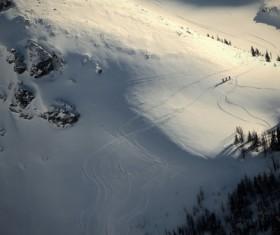 snow mountain landscape Stock Photo