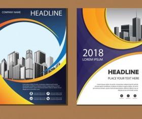 2018 company brochure cover creative vector 01