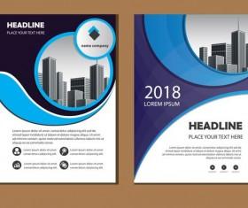 2018 company brochure cover creative vector 06