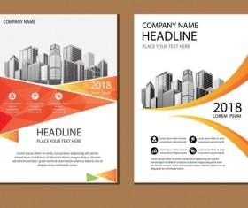 2018 company brochure cover creative vector 08