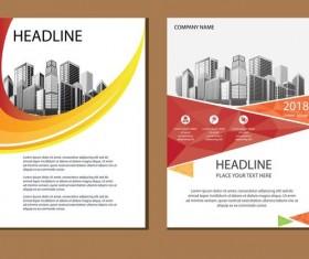 2018 company brochure cover creative vector 10