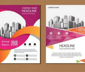 2018 company brochure cover creative vector 11