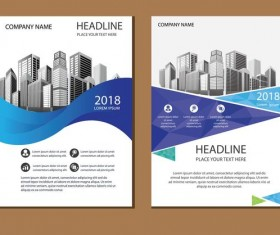 2018 company brochure cover creative vector 12