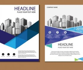 2018 company brochure cover creative vector 13