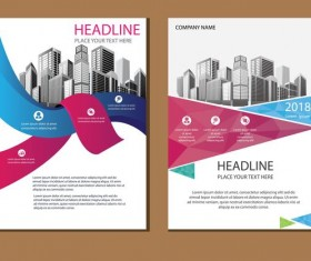 2018 company brochure cover creative vector 14