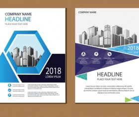 2018 company brochure cover creative vector 15