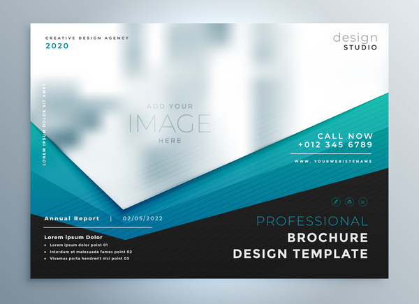 Business Card Design 2020.2020 Modern Business Template Vectors 01 Free Download