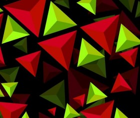 3D triangle colored background vector