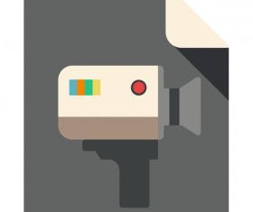 A-VIDEO Flat Icon