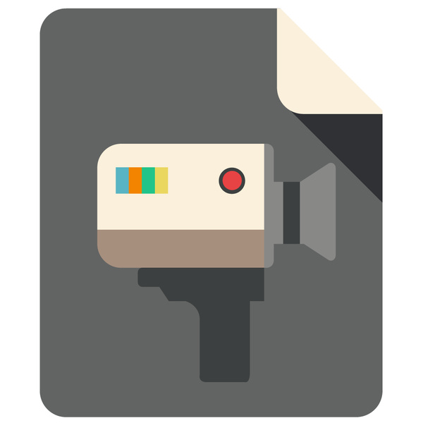 A VIDEO Flat Icon