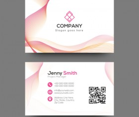 Abstract company business card vector