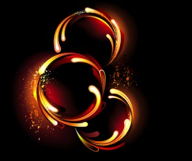 Abstract fire flame ring vector background