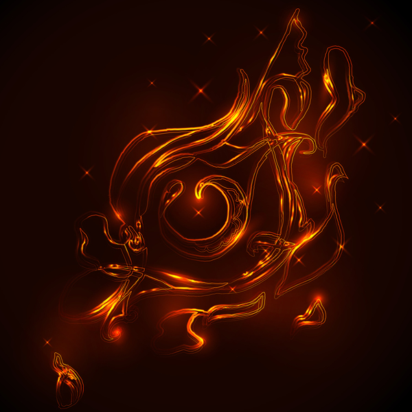 Abstract illustration of eyes on fire vector