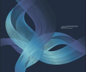Abstract wave with blue background vector
