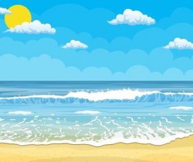 Beach summer background vector design 01