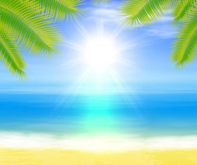 Beach summer background vector design 03