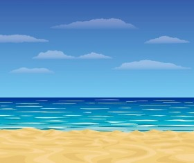 Beach summer background vector design 04