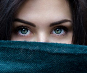 Beautiful girl eye close-up Stock Photo