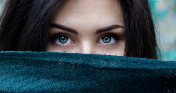 Beautiful girl eye close up Stock Photo
