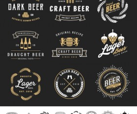 Beer logo template vector