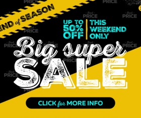 Big supper sale background vector material