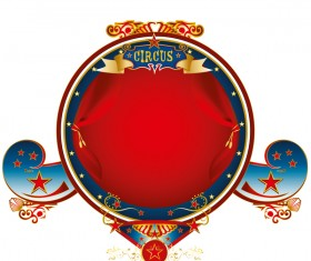 Big top frame circus vector