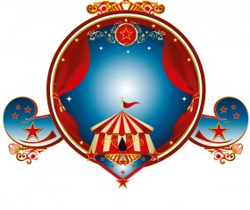Big top stamp circus vector