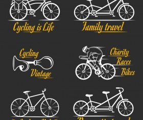Bike club logos vector