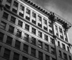 Black and white photos of classic architectural appearance Stock   Photo