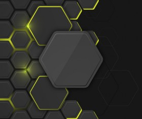 Black hexagon carbon fiber background vectors 02