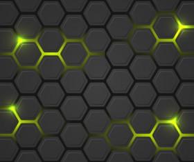 Black hexagon carbon fiber background vectors 06