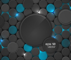 Black with blue cricle creative background vector