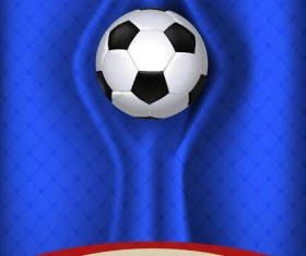 Blue damask with soccer background vector