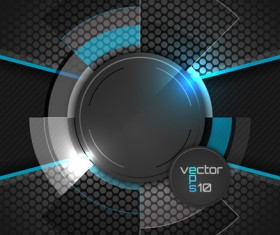 Blue with black tech background vectors