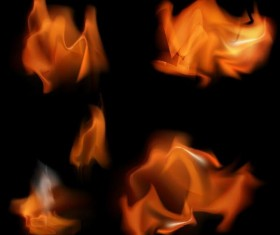 Blurs fire flame illustration vector