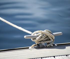 Bolt rope close-up Stock Photo