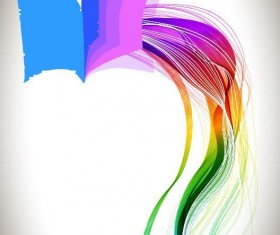 Book with colored abstract wave background vector 02