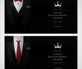 Business elite cards template vector 03